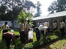 Bangladesh Army International University Of Science & Technology Cleaning Campus