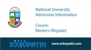 National University Admission Masters Regular
