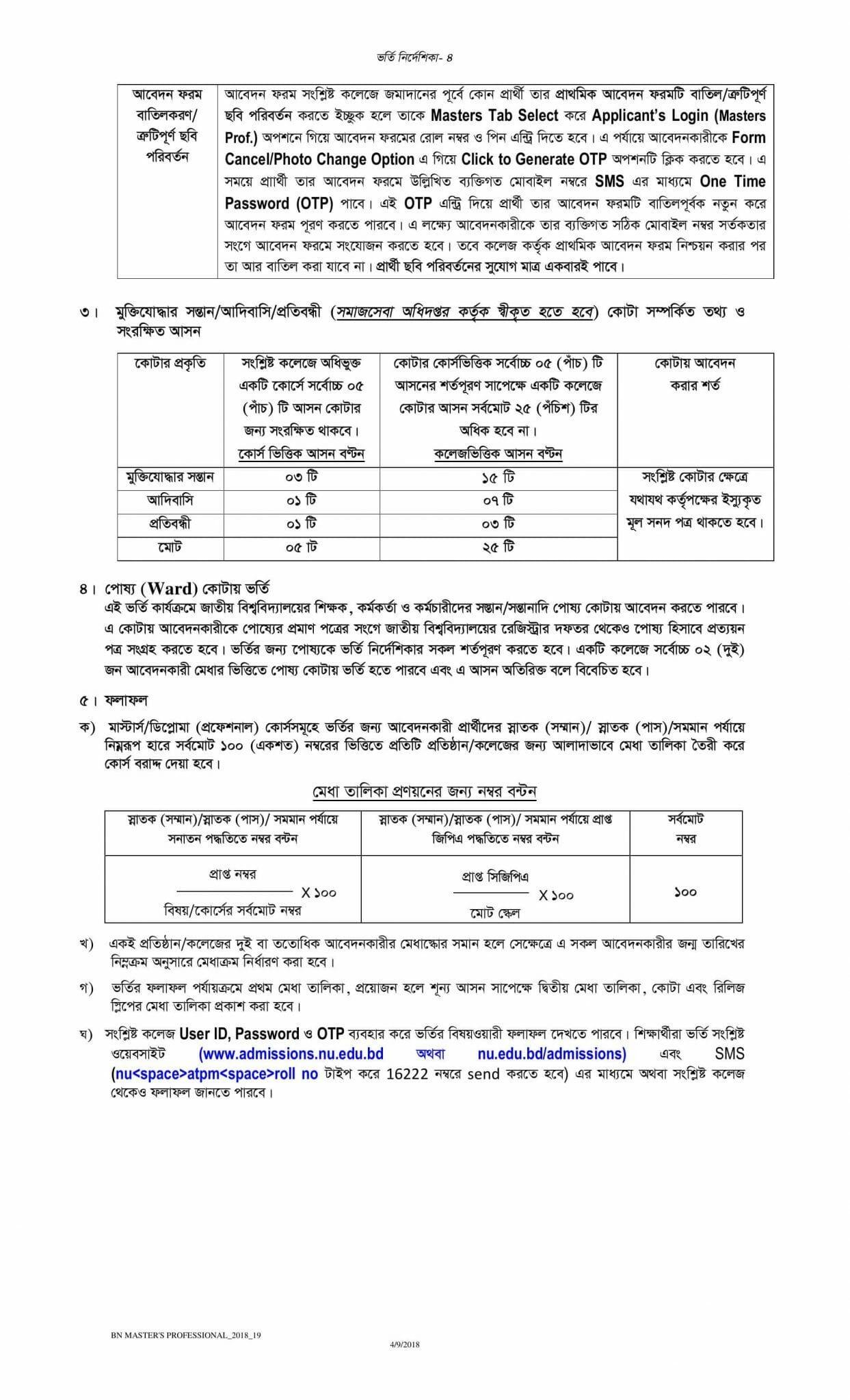 National University Admission Masters guideline-3