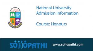 National University admission Honours